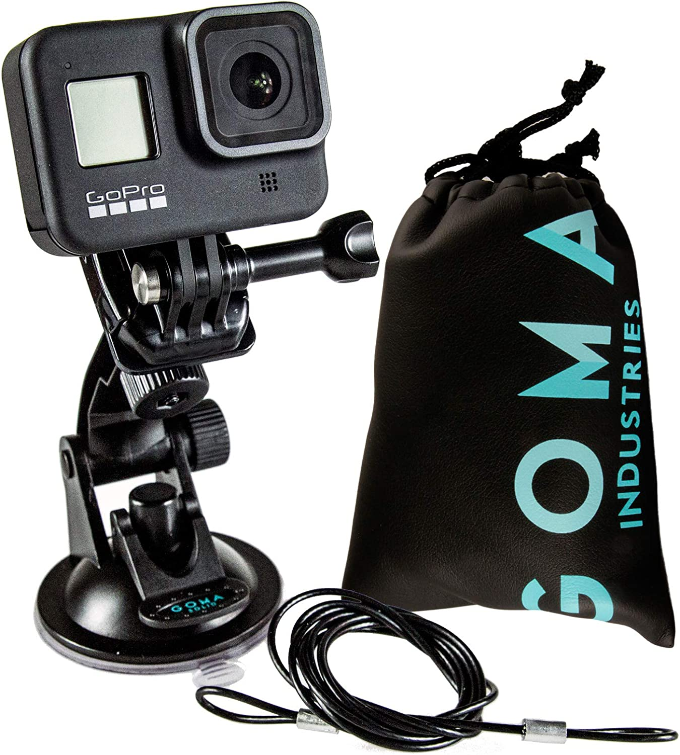GOMA Suction Cup Car Mount Kit for GoPro Hero Cameras