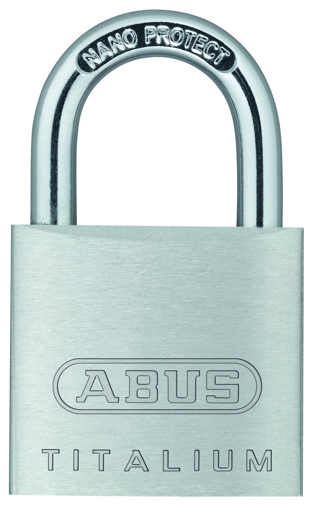 ABUS 64TI/30 C KD Titalium Aluminum Alloy Keyed Different Padlock 1-1/4-Inch with 3/16-Inch Diameter Nano Protect Steel Shackle