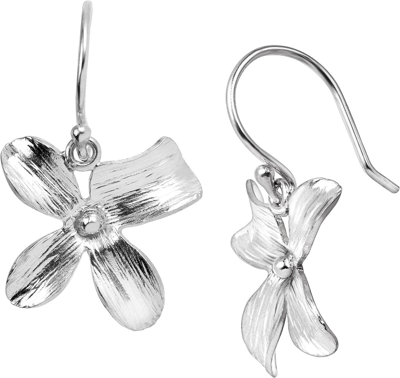 Silpada 'Garden Whimsy' Floral Drop Earrings in Sterling Silver