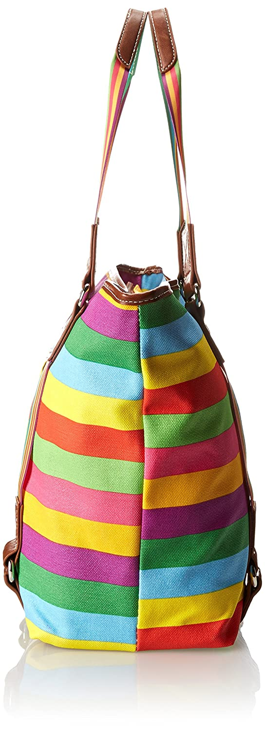 Sydney Love Canvas Stripe East West Travel Tote