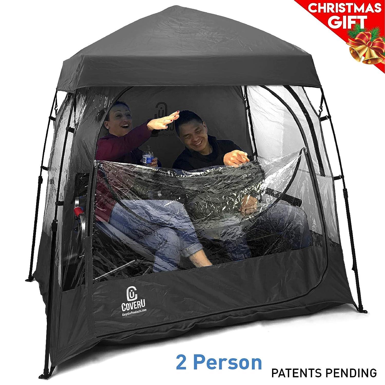 EasyGoProducts coveru Sport Shelter – 2 Person Wetter Zelt und Sport Pod – Patente Angemeldet schwarz