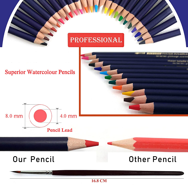 Professionnel Colore Crayons De Dessin Art Set Malette Dessin