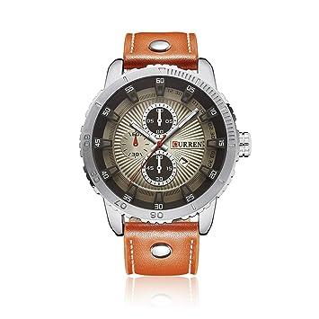 Easy Go Shopping Reloj para Hombre Reloj con Correa Grande y Falso con Tres Ojos Falsos (Color : 2): Amazon.es: Electrónica