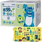 怪物家 纯水99% 手·湿巾 60片装×20个 (1200张) 日本制 不含防腐剂