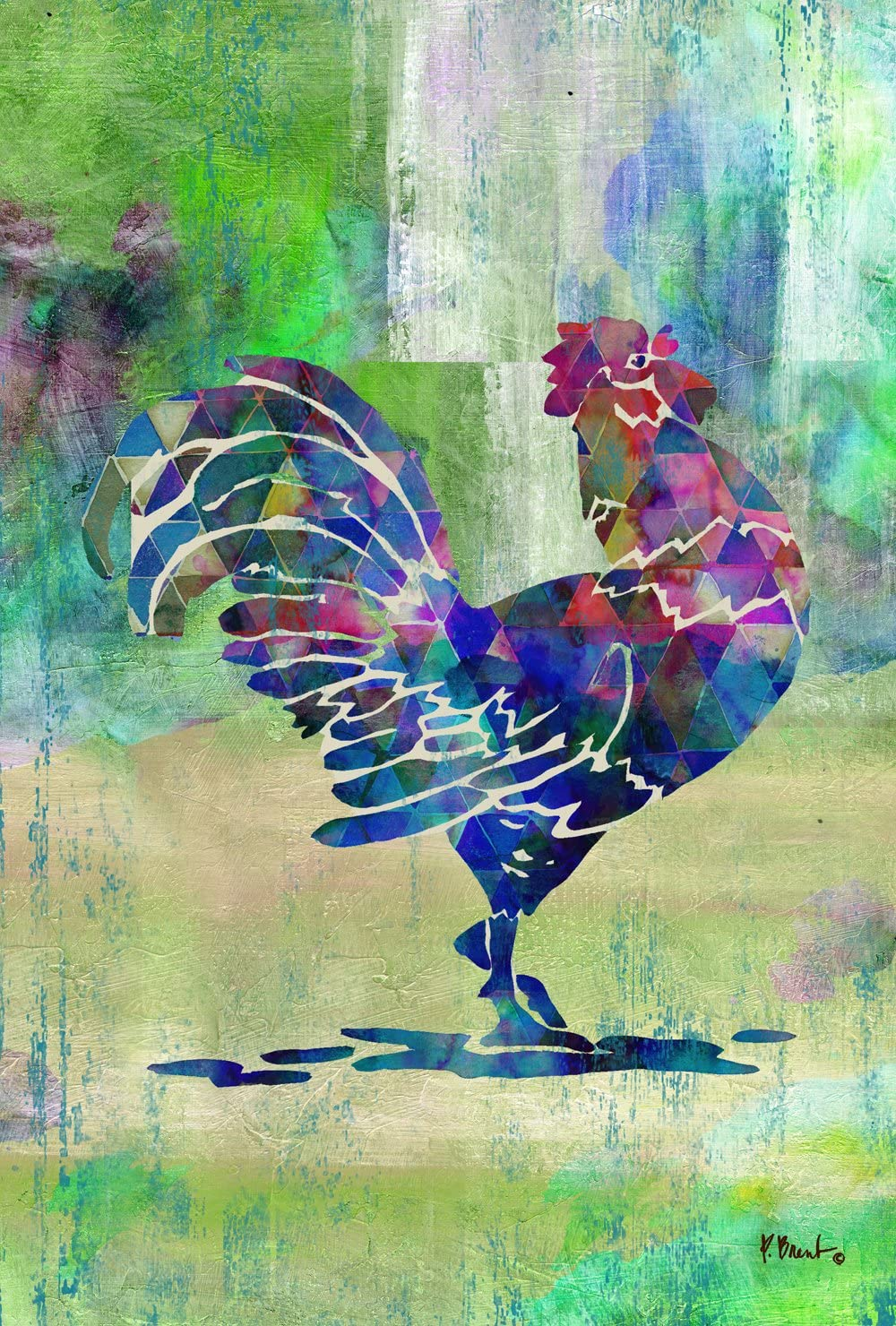 Toland Home Garden Fowl Call 12.5 x 18 Inch Decorative Colorful Rooster Farm Country Barnyard Garden Flag