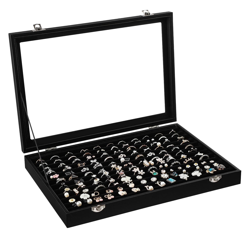 SONGMICS Jewellery Display Box for 100Rings JDS301