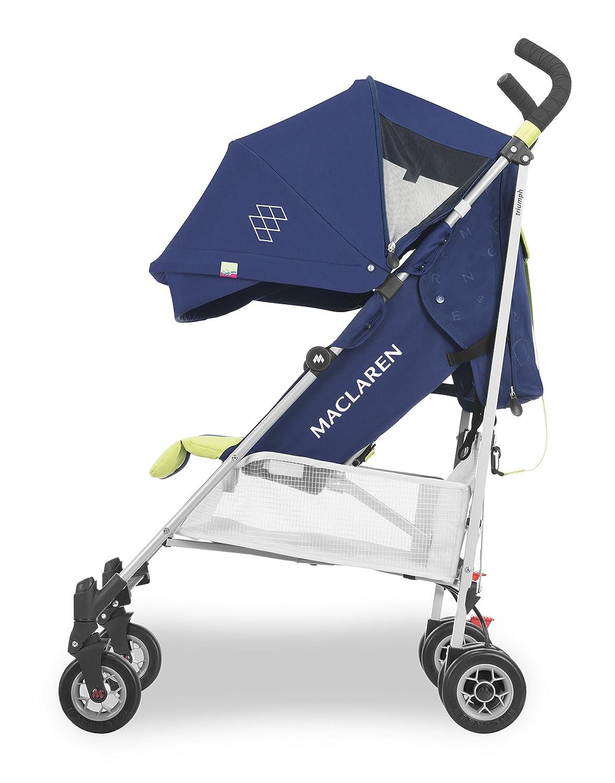 verstellbarer 4-Rad-Federung sportlich Regenschutz inklusive waschbarer tr/ägt bis zu 25 kg Leicht Ausziehbare UPF50+//wasserdichte Haube gepolsterter Sitz Maclaren Triumph Buggy
