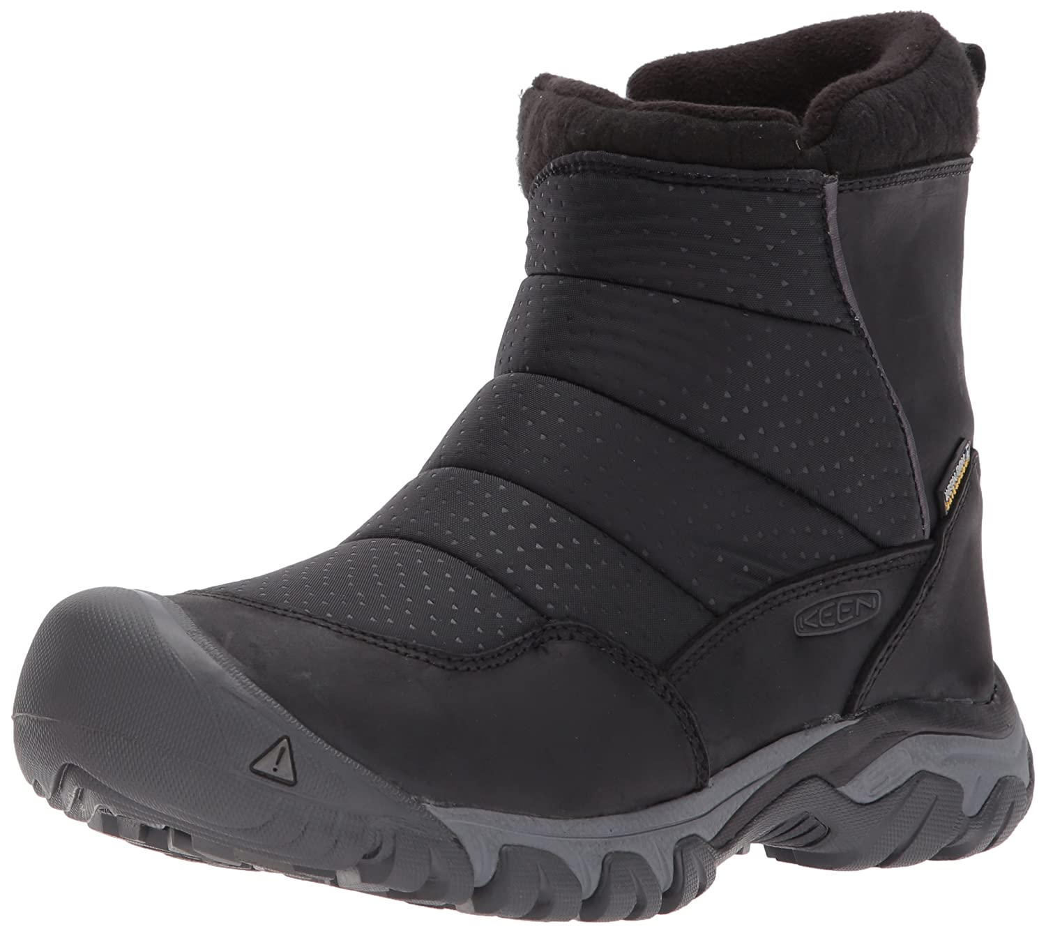 KEEN Women's Hoodoo III Low Zip-w Snow Boot B01N76O7LB 5 B(M) US|Black/Magnet