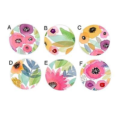 Pastel Watercolor Floral Flowers Girls Nursery Kids Childrens Drawer Knobs Furniture Knobs Pulls: Handmade