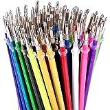 Glitter Gel Pen Refills by Color Technik, Set of 80 Glitter and Neon  Glitter,