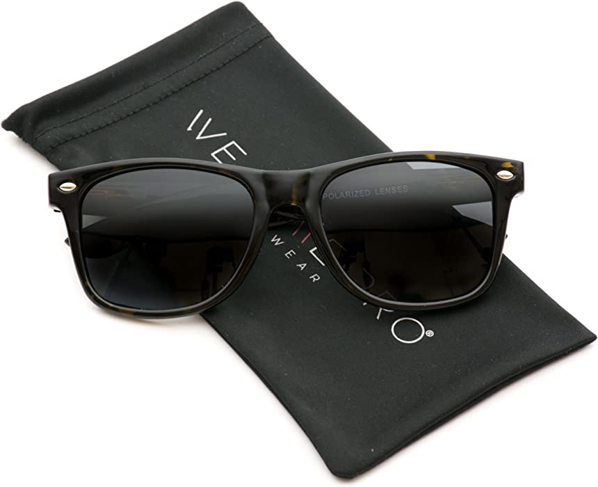 1c63545acd WearMe Pro - Polarized Lens Black Horned Rimmed Sunglasses (Tortoise)