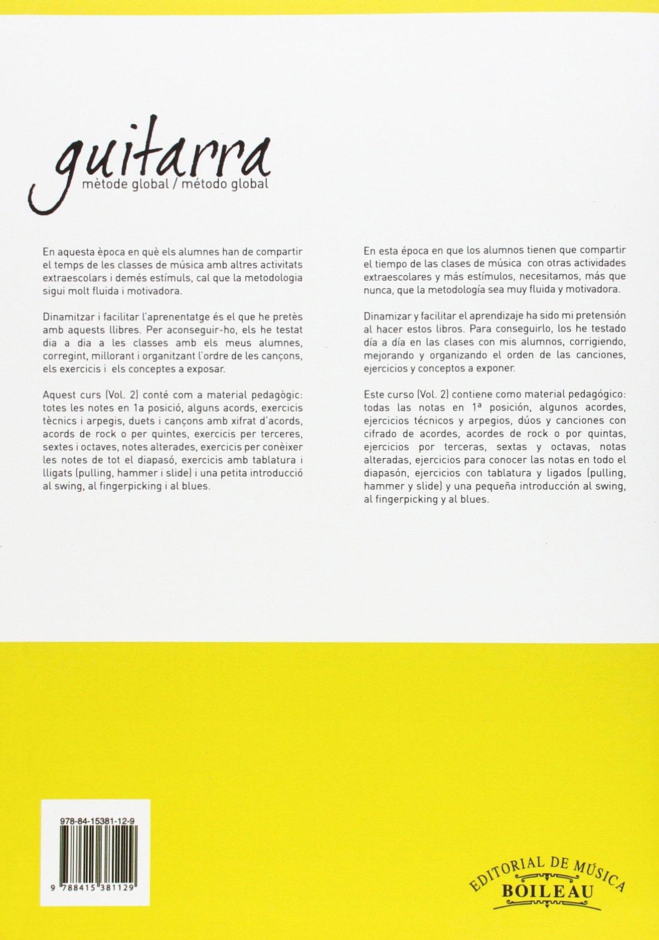 Guitarra. Mètode global. Vol. 2: Amazon.es: Murillas Muncunill ...