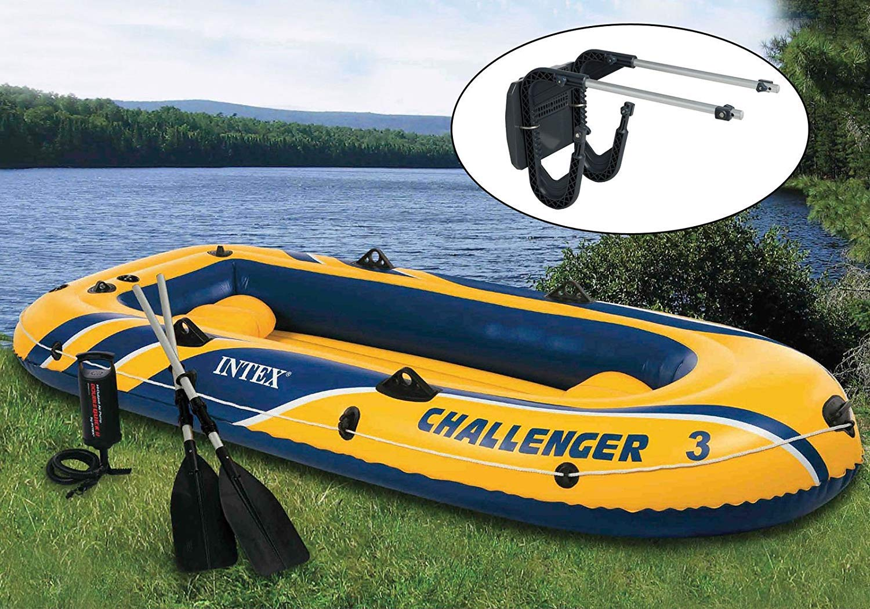 Intex Challenger 3 Barco 2 Persona Juego de Balsa y Remo ...