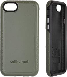 cellhelmet Fortitude Series ODG/Olive Drab Green/Tactical Green Dual Layer Phone Case for Apple iPhone SE (2020) / 6/7 / 8 | As Seen on Shark Tank | in Retail Package