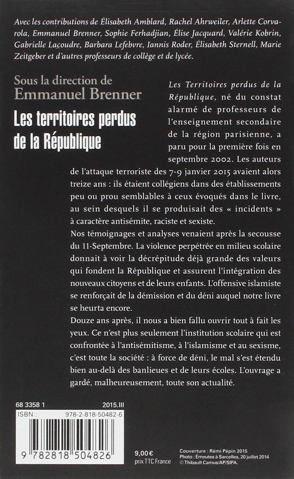 Resultado de imagen de Les Territoires perdus de la République