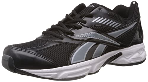 fb8bf176a Reebok Men s Active Sports Black and Silver Mesh Running Shoes - 7 ...