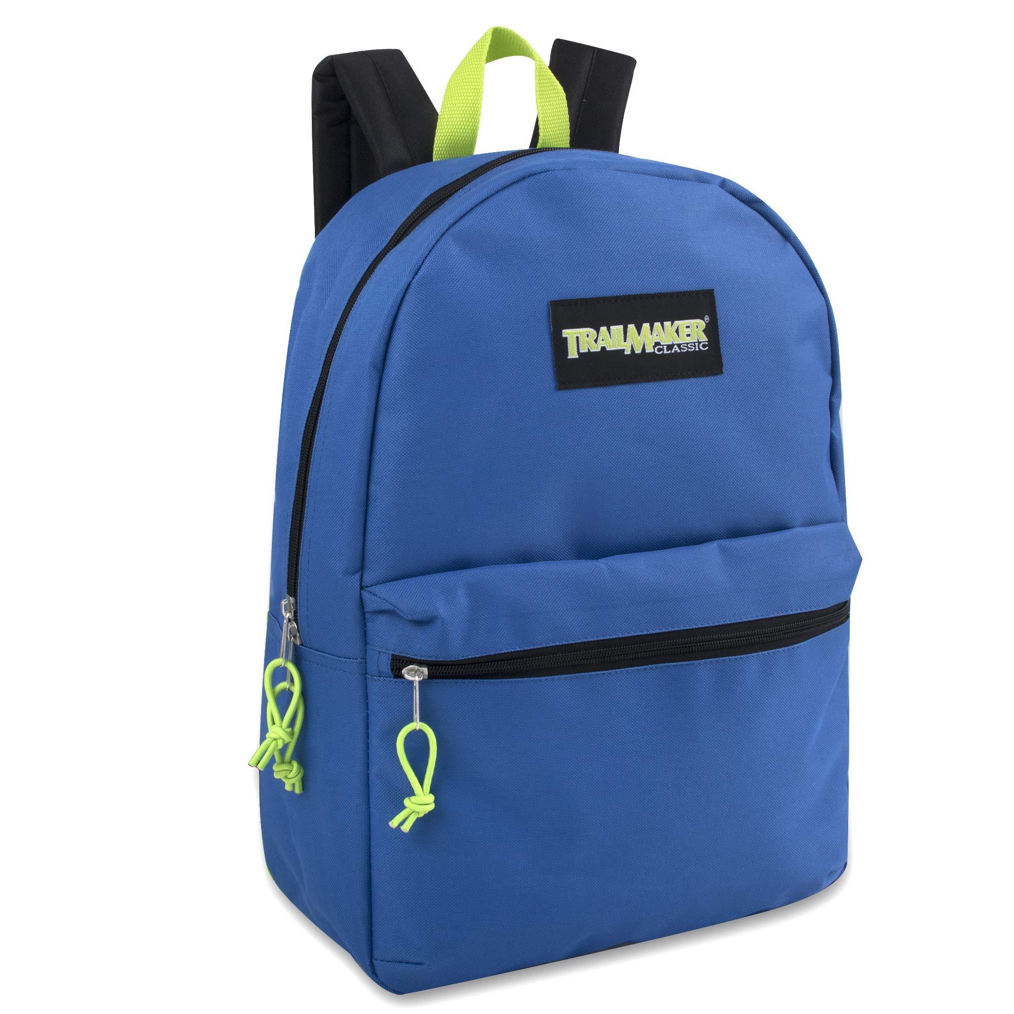17'' Trailmaker Backpack Bookbag (Blue (01)) by Trail maker (Image #3)