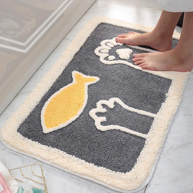 Indoor Doormat, Cartoon Anti-Slip Absorbent Inside Mats Ultra-Soft No Odor Pet Rugs for Home Entrance Doorway Entryway Bedroom Bathroom,Machine Washable,32x20 Inch