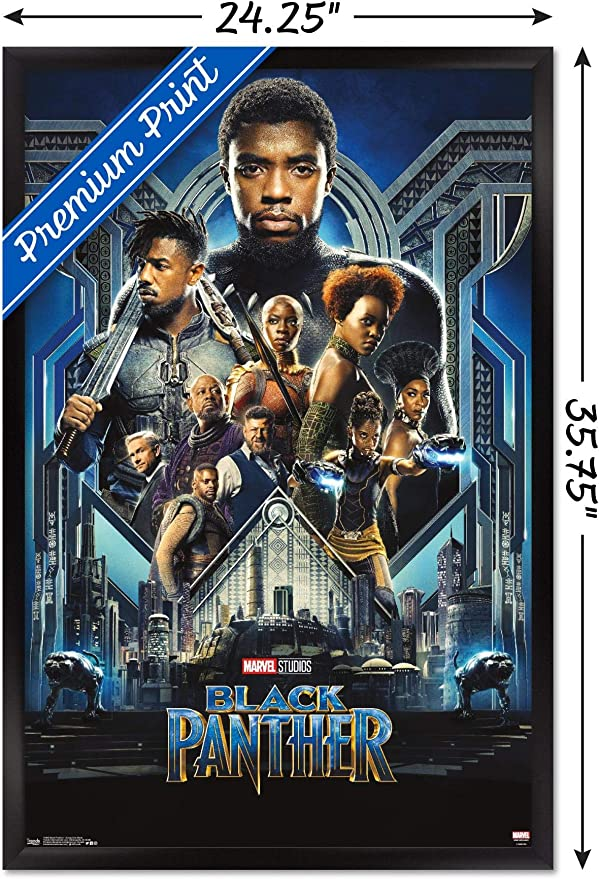Black Panther Movie 2018 Fabic Silk Poster Canvas Print 13x20 24x36/'/'