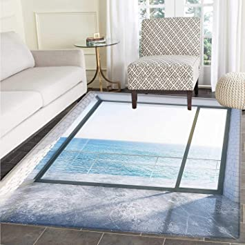 9ead52ce1 White Customize Floor mats for home Mat Empty Urban Modern Loft Apartment  Home with Ocean Sea