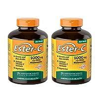 American Health Ester-C with Citrus Bioflavonoids Vegetarian Tablets (2 Pack) -...