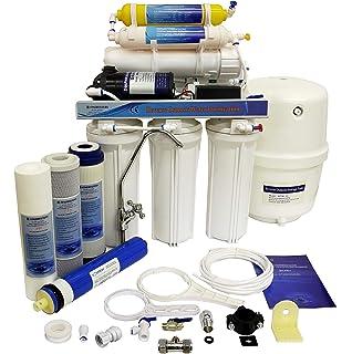 iSpring 75GPD RCC7AK-UV - Sistema de filtrado de agua, ósmosis inversa de 7 fases con alcalinizador y esterilizador ultravioleta.: Amazon.es: Bricolaje y herramientas