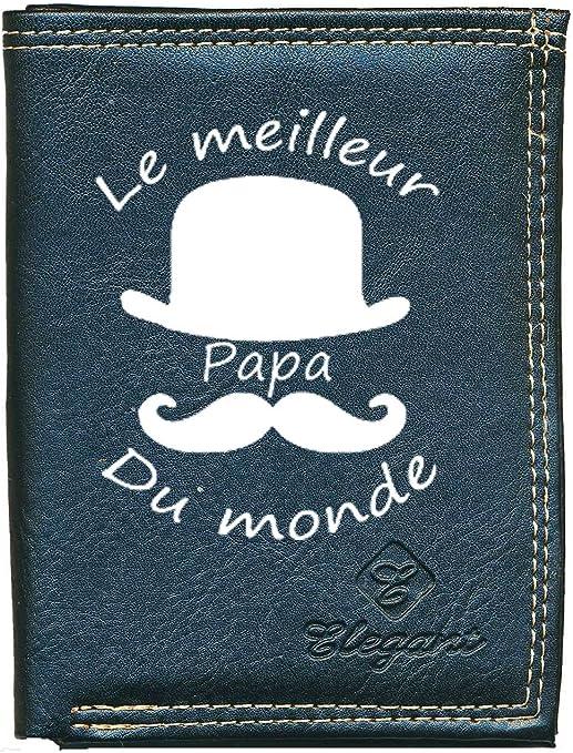 papiers Papa Fete des Peres Pochette Etui Petit Portefeuille Homme Porte Monnaie Cartes