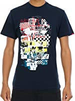 Vans Navy-Golden Glow Off The Wall Checker Blaster T-Shirt
