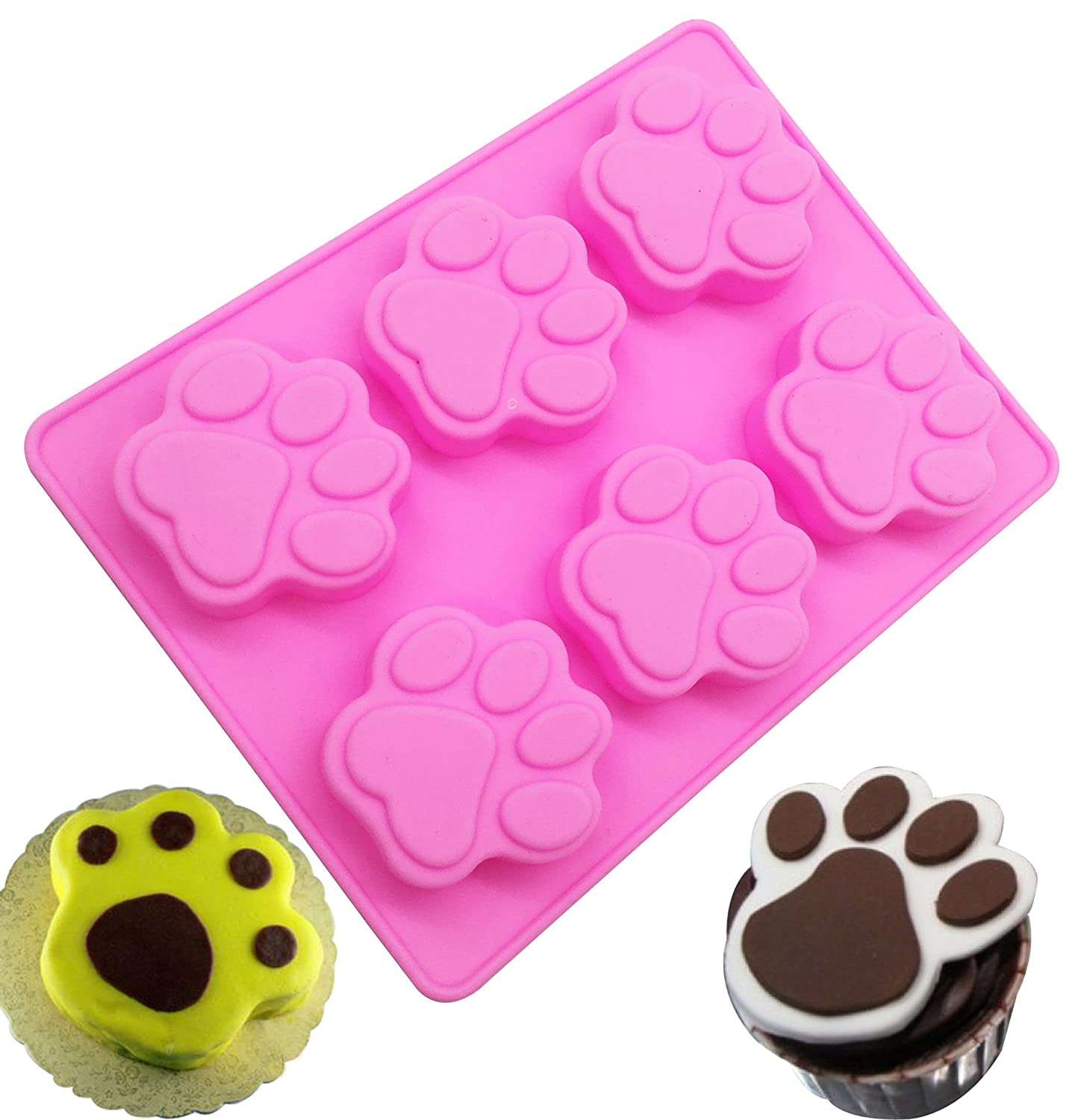 Dog Claw Silicone Cake Mold, KOOTIPS Soap Mold Ice Mold Silicone Cake Baking Mold Cake Pan Muffin Cups Handmade Soap Moulds DIY Tool Kootips-1-3012