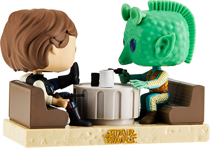 Figuras Pop! Star Wars Han Solo & Greedo Cantina Exclusive: Amazon.es: Juguetes y juegos