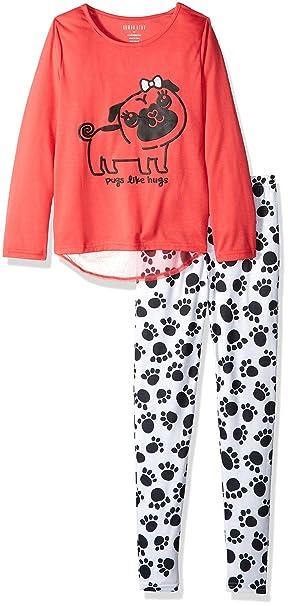 Komar Kids - Pantalón de pijama - para niña rosa coral 32: Amazon.es: Ropa y accesorios