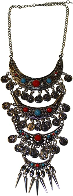 Belly Dance Necklace Moroccan Berber Necklace Moroccan Pendant Berber Tribal Jewelry Moroccan Enamel Necklace Necklace