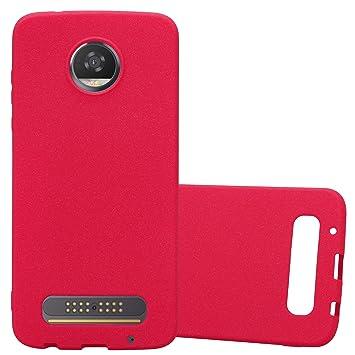 Cadorabo Funda para Motorola Moto Z2 Play en Frost Rojo ...