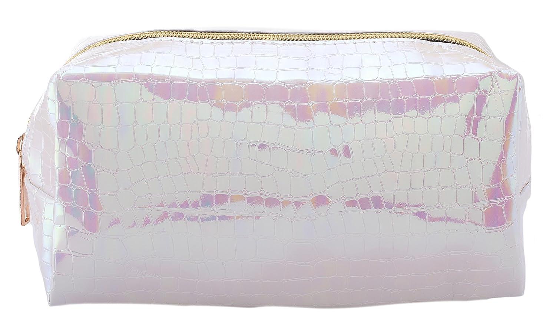 Amazon.com: Cosmetic Bag - Unicorn with Rainbows & Butterflies - Blue: Beauty