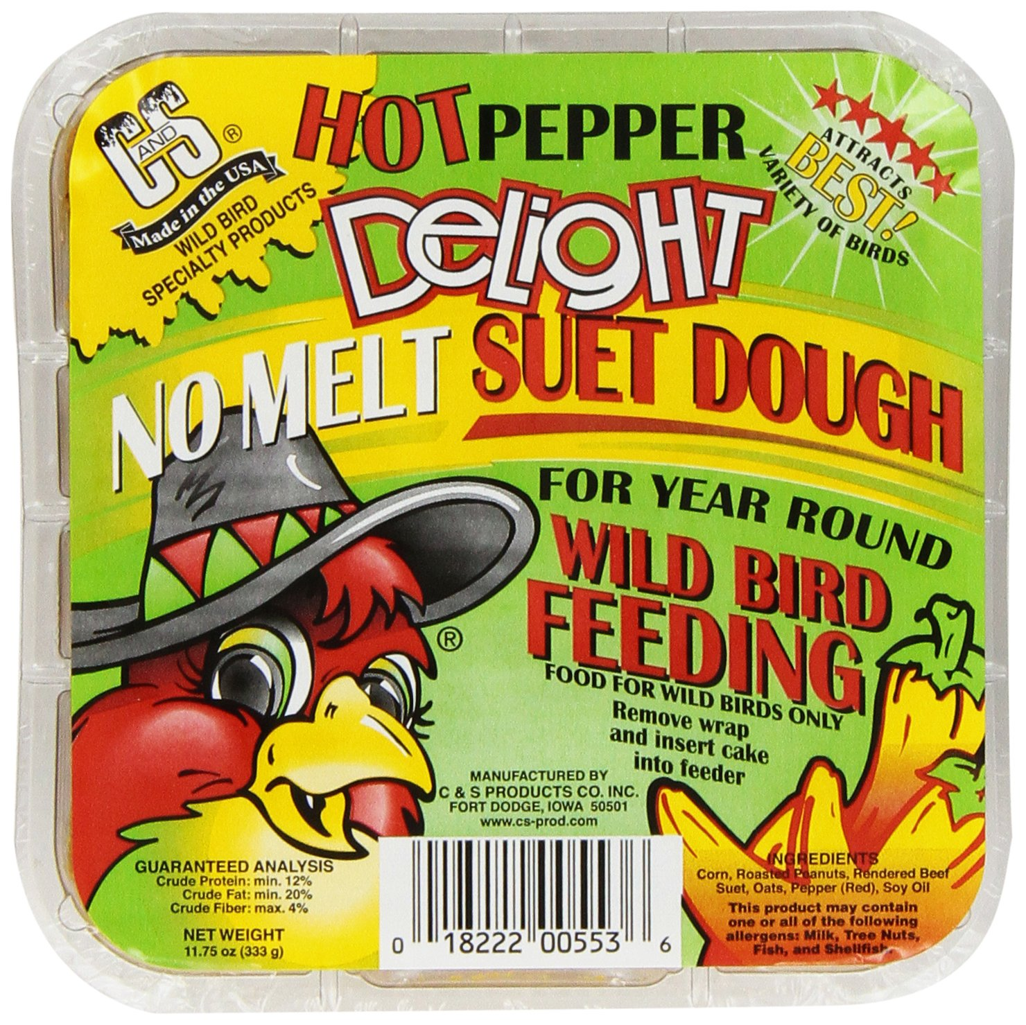 C & S Products Hot Pepper Delight 11.75 Oz, 12-Piece by C & S Products