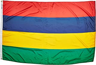 product image for Annin Flagmakers Model 195638 Mauritius Flag Nylon SolarGuard NYL-Glo, 4x6 ft, 100% Made in USA to Official United Nations Design Specifications