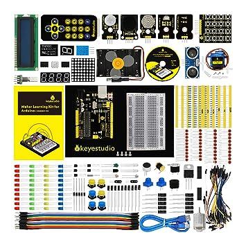 KEYESTUDIO Eléctrica Starter Kit con Guías Tutorial y Conjunto de UNO R3 con LCD Servo Motor