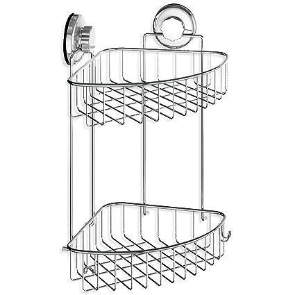 Amazon.com: HASKO accessories - Suction Cup Corner Shower Caddy ...