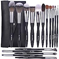 BS-MALL Makeup Brush Set 16pcs Makeup Brushes Premium Synthetic Bristles Powder Foundation Blush Contour Concealers Lip…