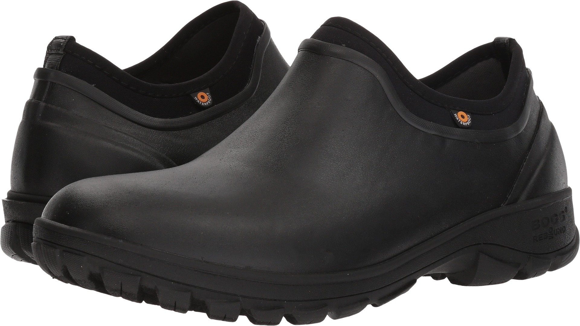 Bogs Men's Sauvie Slip On Soft Toe Rain Boot, Black, 11 D(M) US by Bogs