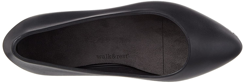 Walk&rest Damen (Schwarz) Wedge Geschlossene Ballerinas Schwarz (Schwarz) Damen dd6252