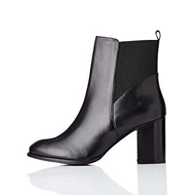 Amazon Brand - find. Women's High Heeled Leather Chelsea Boots: Shoes