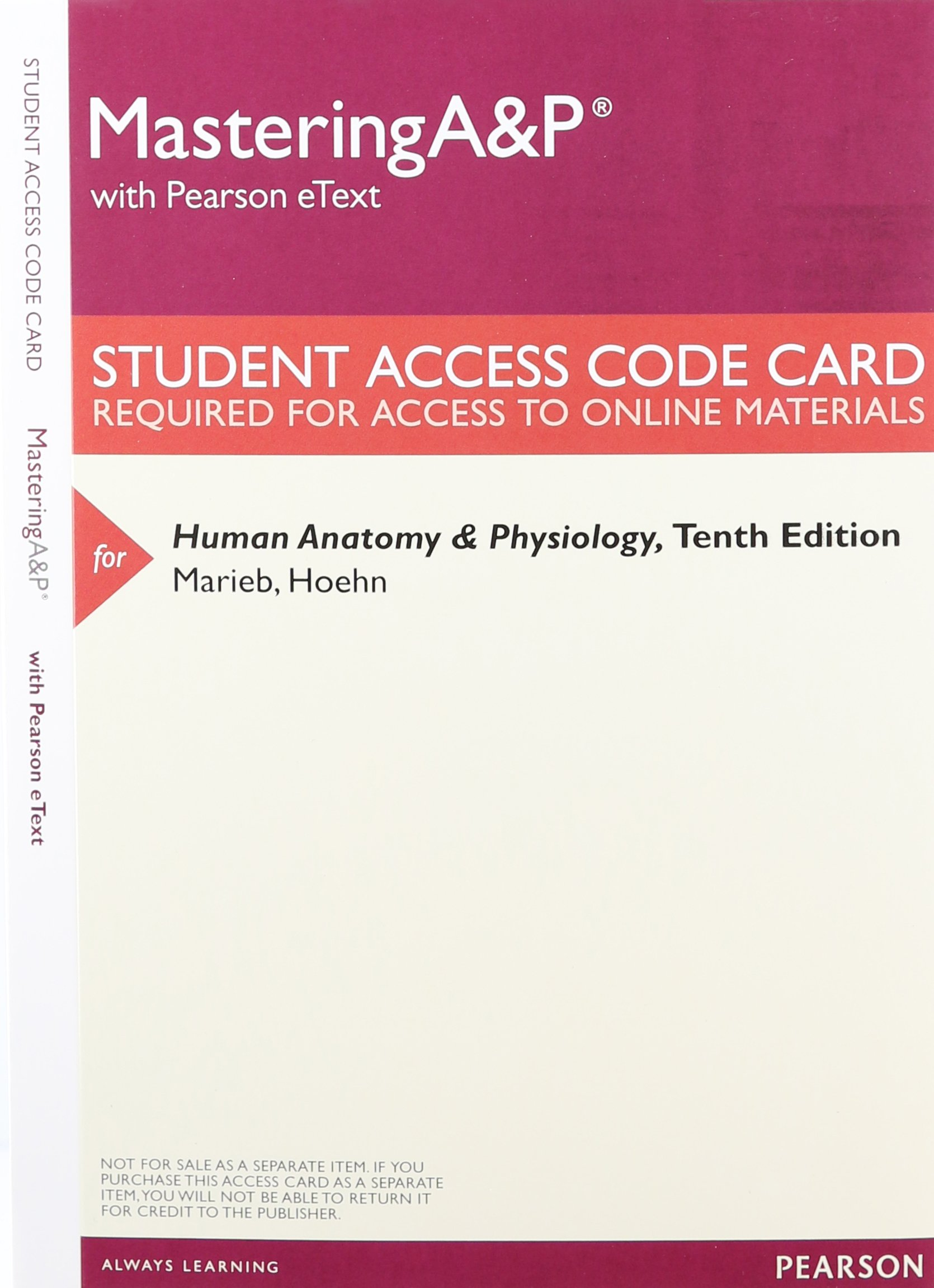 Human Anatomy & Physiology, Books a la Carte Plus Mastering A&P with ...