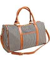 BAOSHA HB-25 Ladies Women Canvas Overnigt Weekender Bag Travel Duffel Tote Bag Weekend Overnight Travel Bag Handbags
