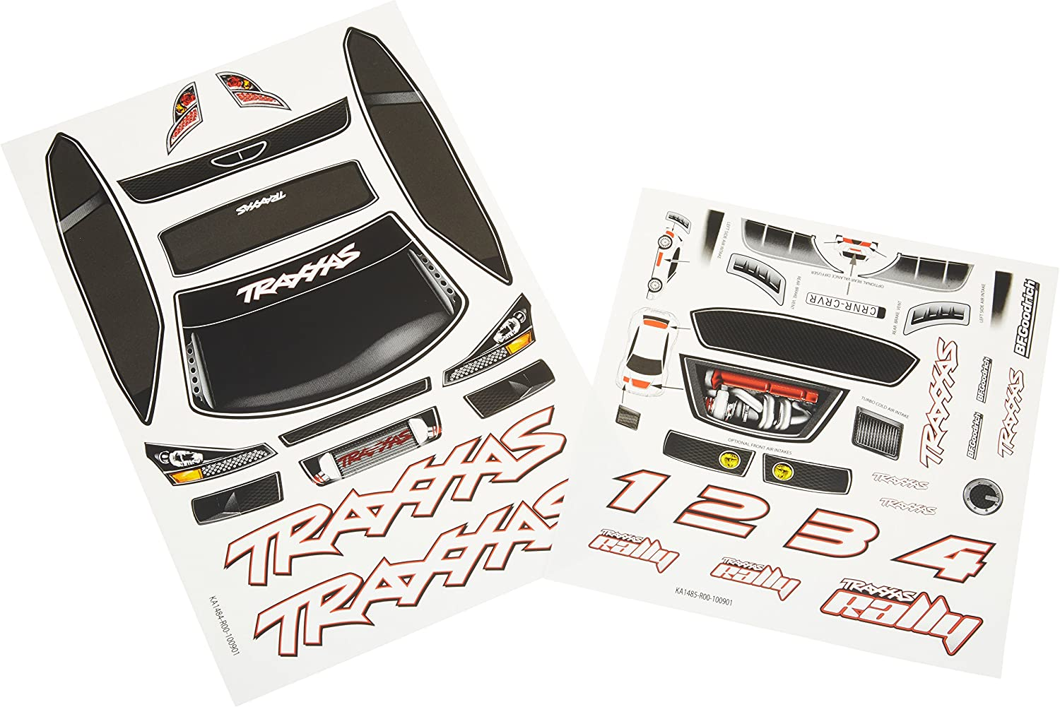 Traxxas 7123 White Wing with Decal Sheet 1//16 Revo 66-Pack