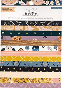 Crate Paper 350958 Paper PAD 6X8, Maggie Holmes Heritage W/Gold Foil