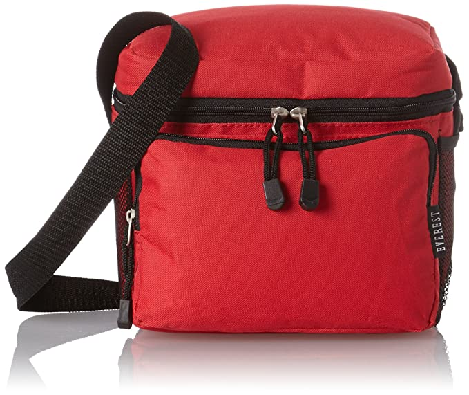 Everest Cooler Lunch Bag, Red, One Size