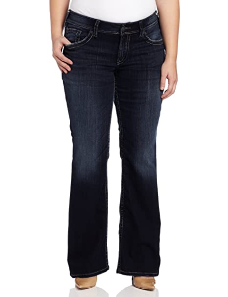 Amazon.com: Silver Jeans de la mujer PLUS-SIZE Suki Surplus ...