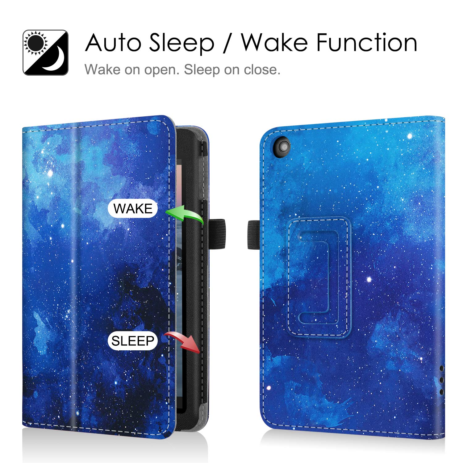 9th Generation, 2019 Release - Slim Fit PU Leather Standing Protective Cover with Auto Wake//Sleep Love Tree Fintie Folio Case for All-New  Fire 7 Tablet