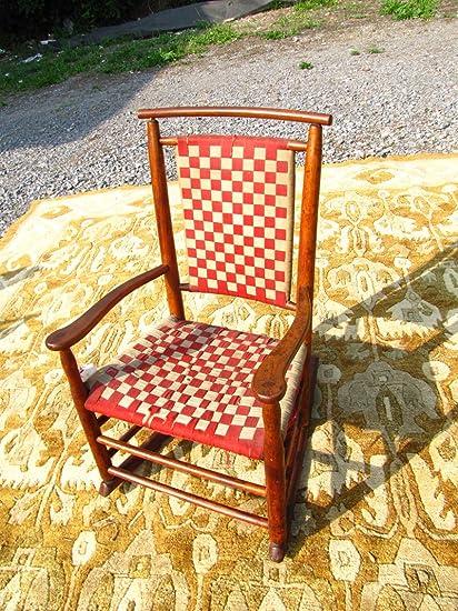Remarkable Amazon Com Antique Small Shaker Rocking Chair W2331 Spiritservingveterans Wood Chair Design Ideas Spiritservingveteransorg